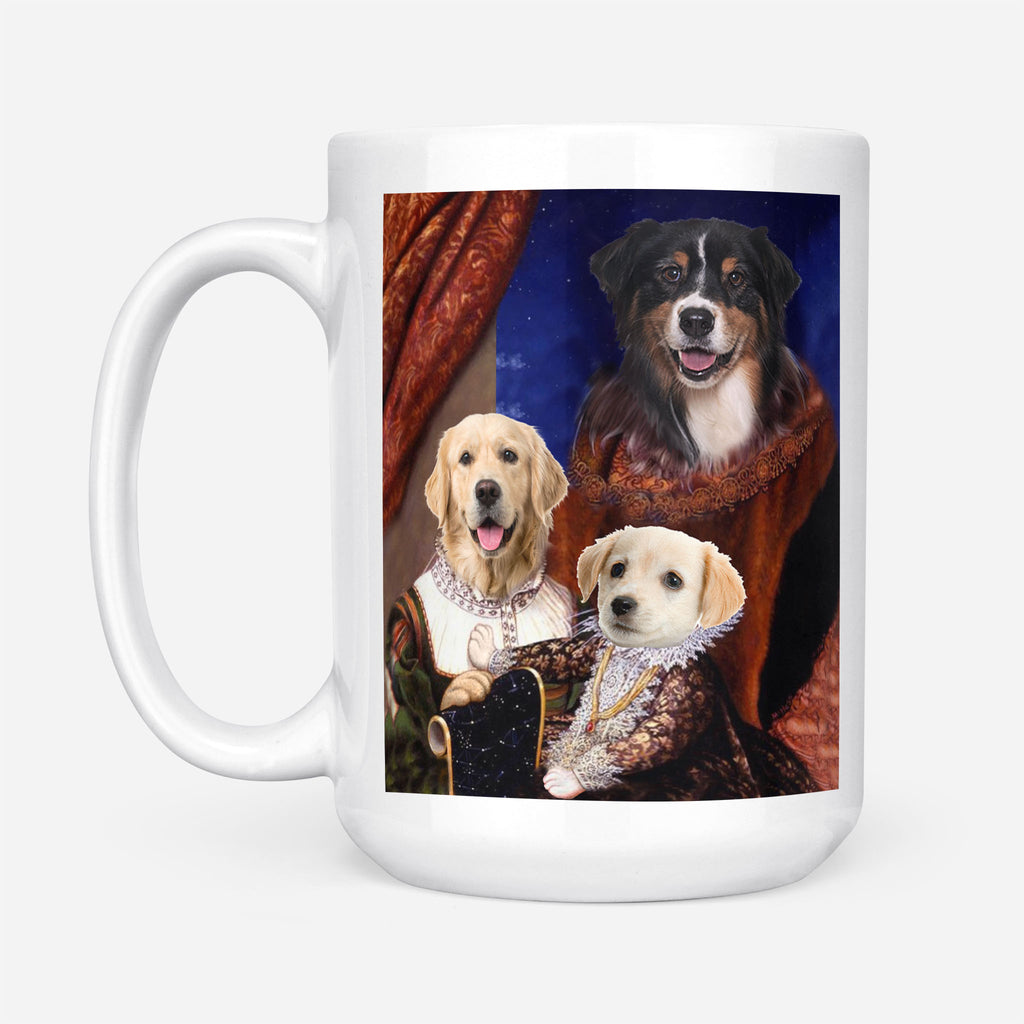 Royal Family with child - Personalized Pet Portrait Custom Mug Gift for Dog Cat Lovers