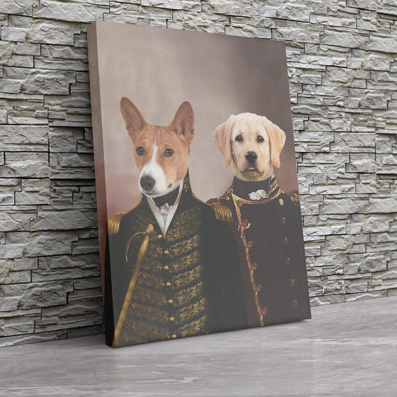 Army Brothers - Custom Pet Portrait Canvas - KutePaw