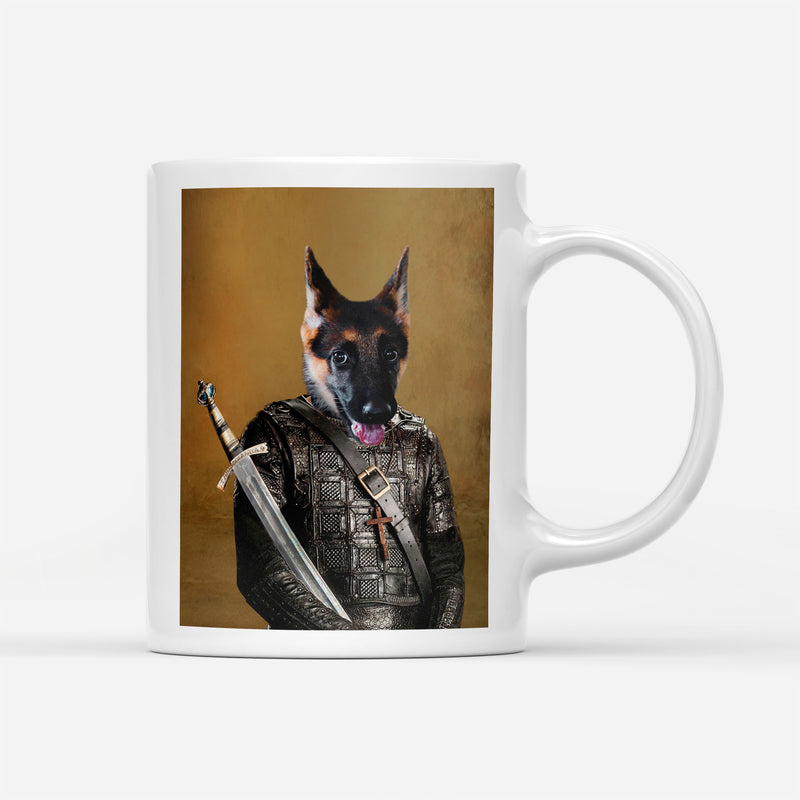 Custom Pet Portrait - Medieval Warrior - Personalized Mug - KutePaw