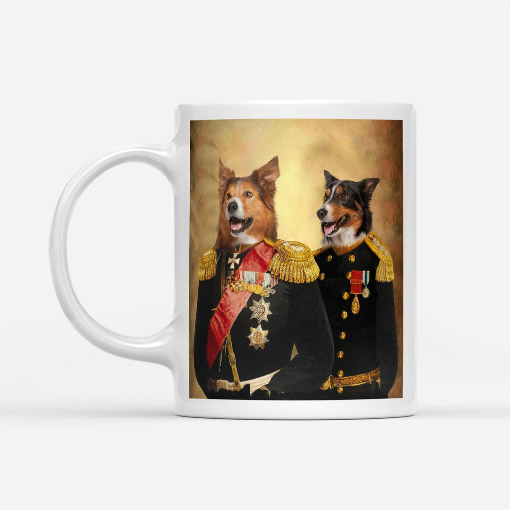 Brothers in Arms - Personalized Pet Portrait Custom Mug Gift for Dog Cat Lovers