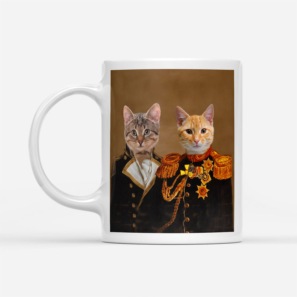 Renaissance General Brothers - Personalized Pet Portrait Custom Mug Gift for Dog Cat Lovers