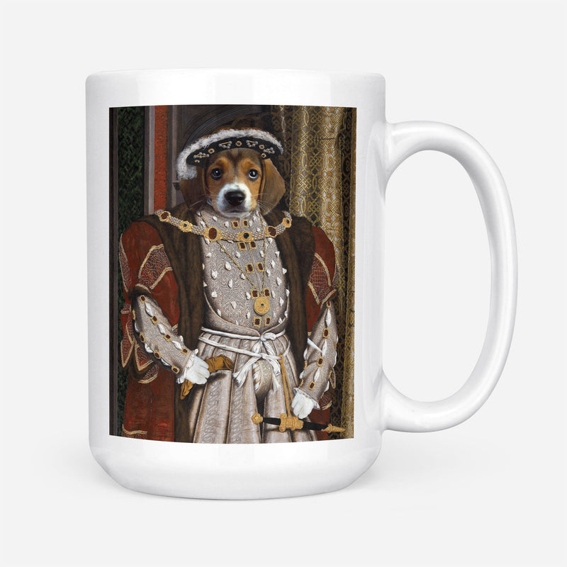 Custom Pet Portrait - Henry VIII of England - Personalized Mug - KutePaw