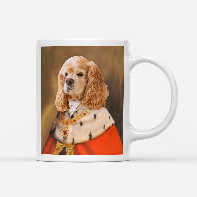 Custom Pet Portrait - King Cloak Cape - Personalized Mug - KutePaw
