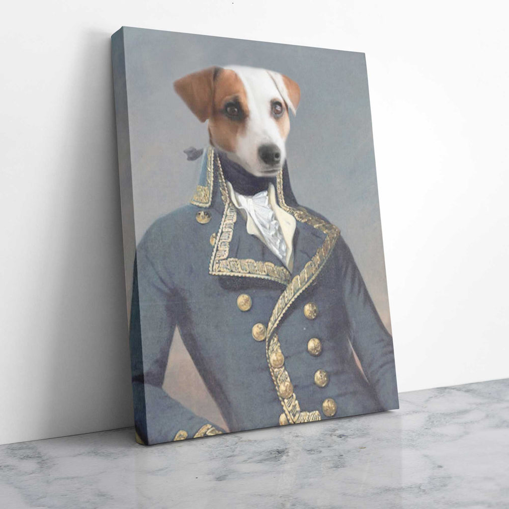 Colonial Military Civil War - Personalized Pet Portrait Poster Wall Art Custom Canvas Gift for Dog Cat Lovers