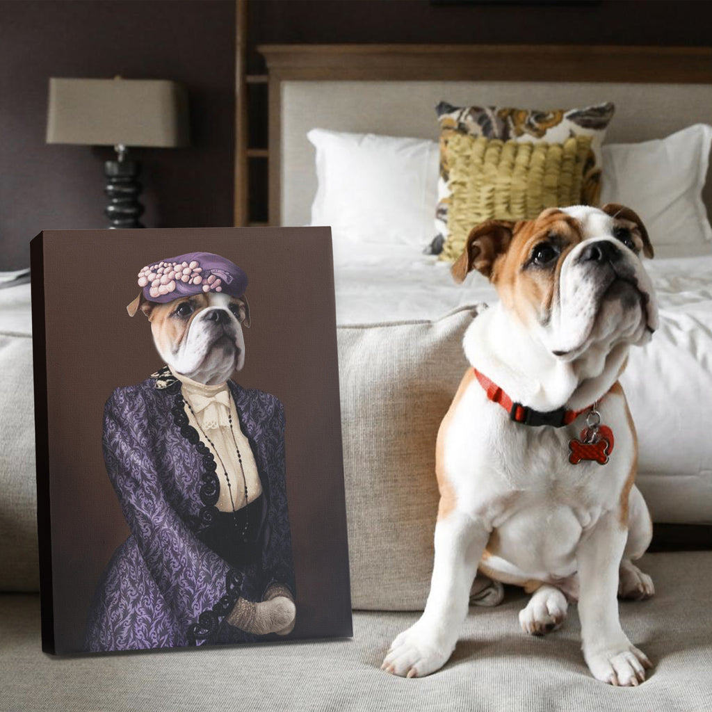 Violet Pawley - Personalized Pet Portrait Poster Wall Art Custom Canvas Gift for Dog Cat Lovers