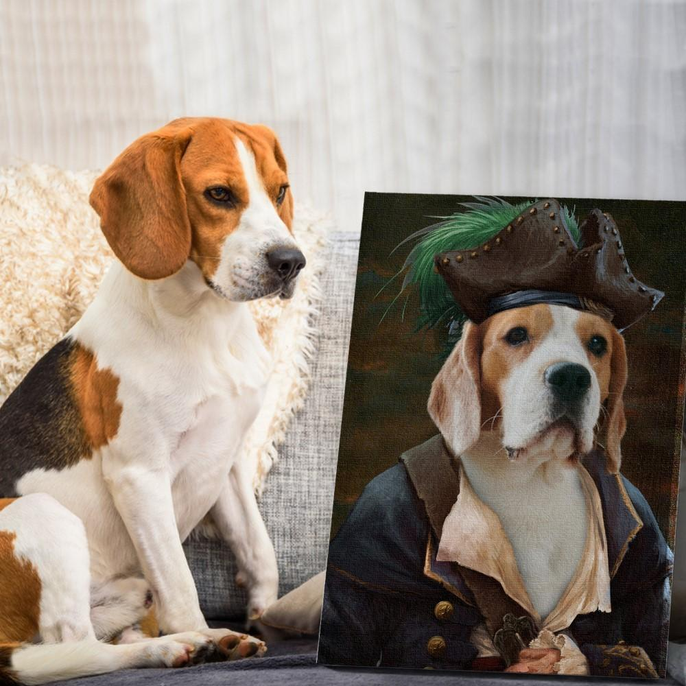 THE PIRATE - Custom Pet Portrait Canvas - KutePaw