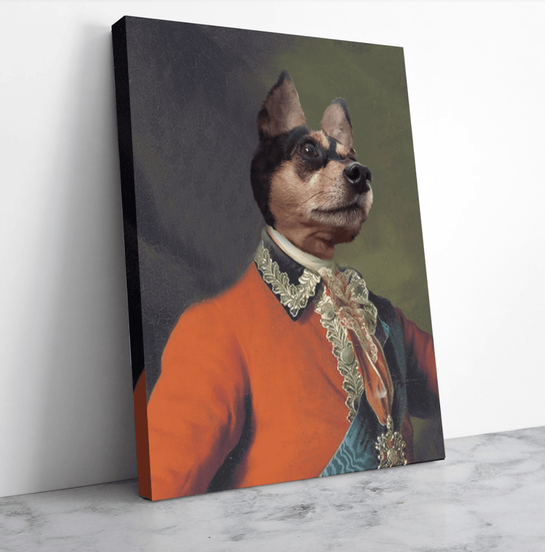Aide-de-Camp To The Empress - Custom Pet Portrait Canvas - KutePaw