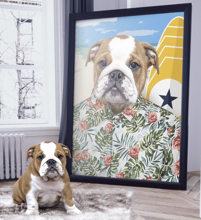THE SURFER - Custom Pet Portrait Canvas - KutePaw