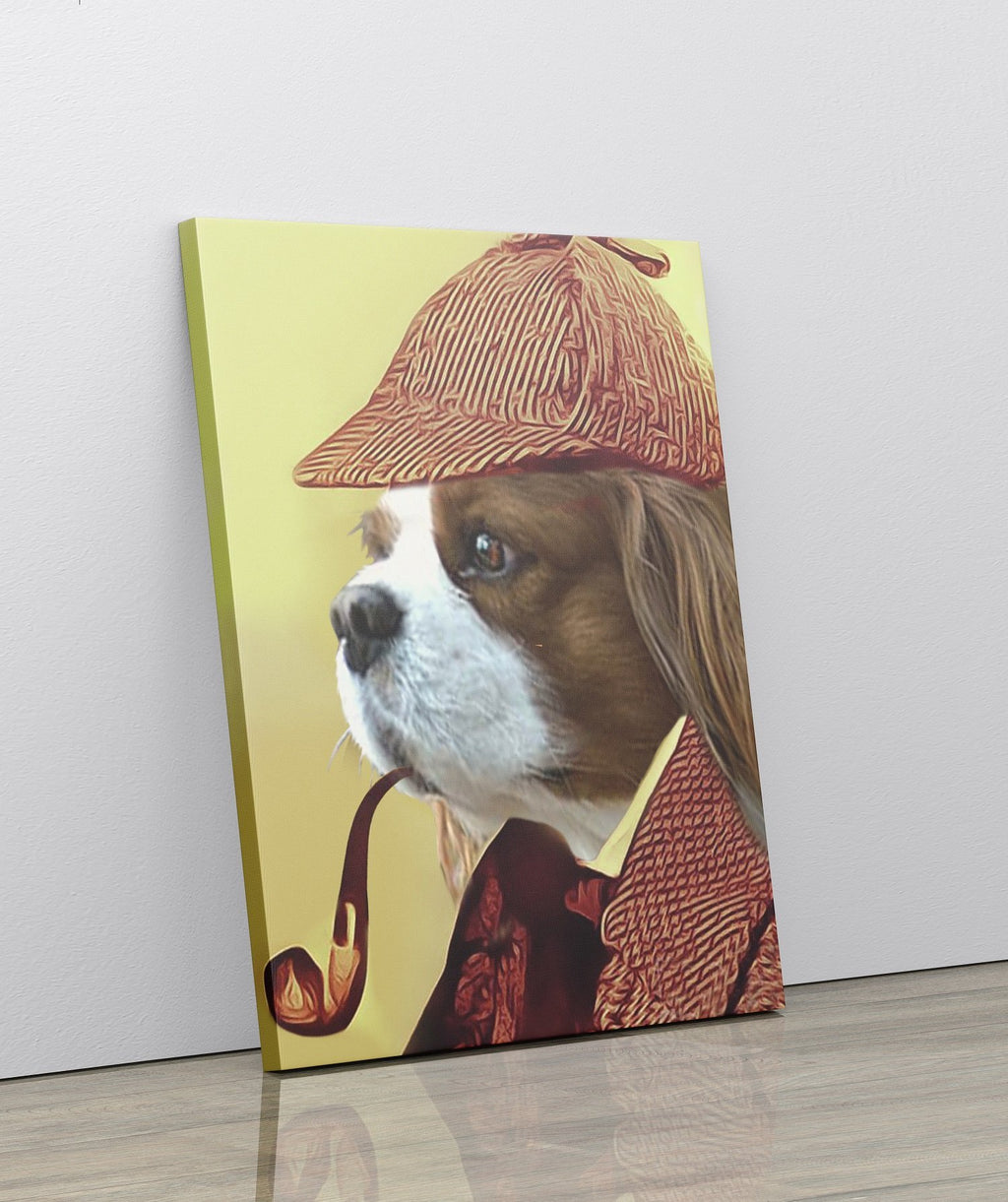 DETECTIVE BONES - Custom Pet Portrait Canvas - KutePaw