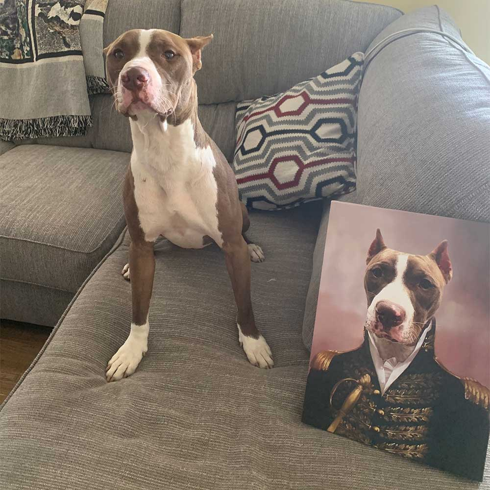 The General - Personalized Pet Portrait Poster Wall Art Custom Canvas Gift for Dog Cat Lovers