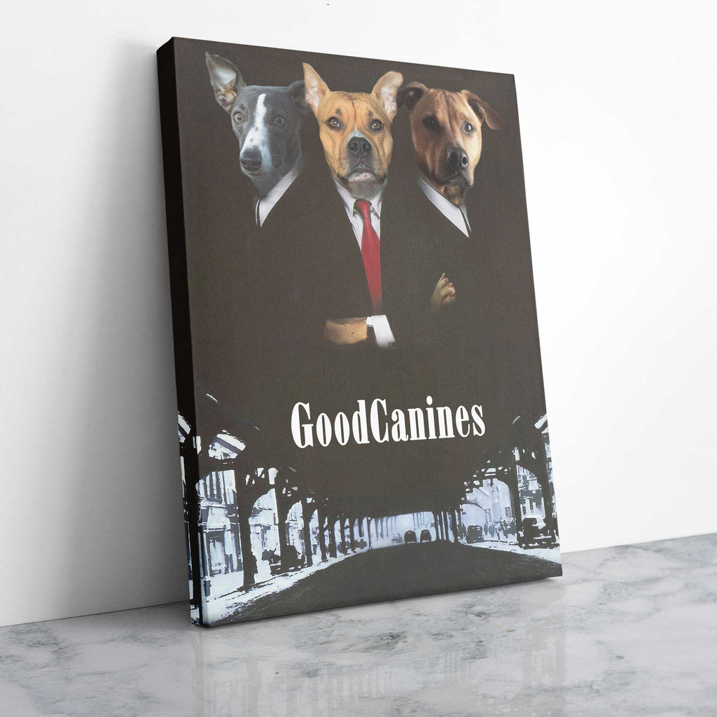 The Good Canines - Personalized Pet Portrait Poster Wall Art Custom Canvas Gift for Dog Cat Lovers