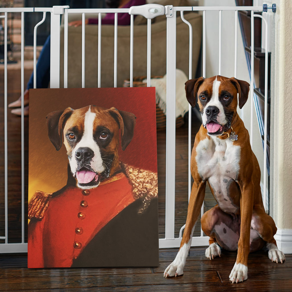 Custom Pet Portrait - The Prince - Personalized Canvas - KutePaw