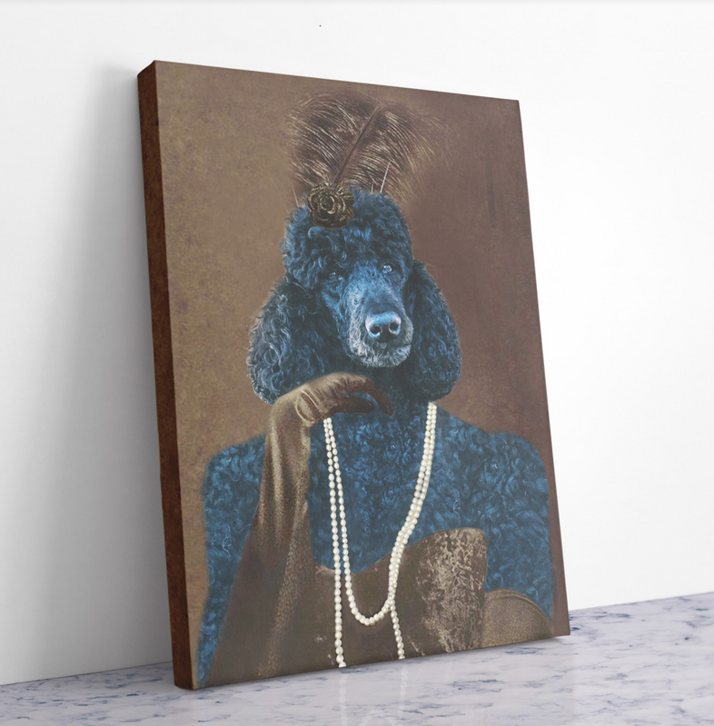 Custom Pet Portrait - BREAKFAST AT CLASSY LADY'S - Personalized Canvas - KutePaw