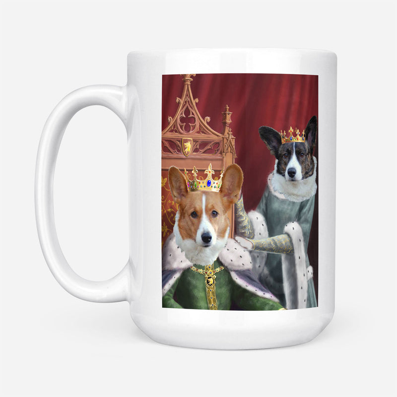 Custom Pet Portrait - KING AND QUEEN ROYAL - Personalized Mug - KutePaw
