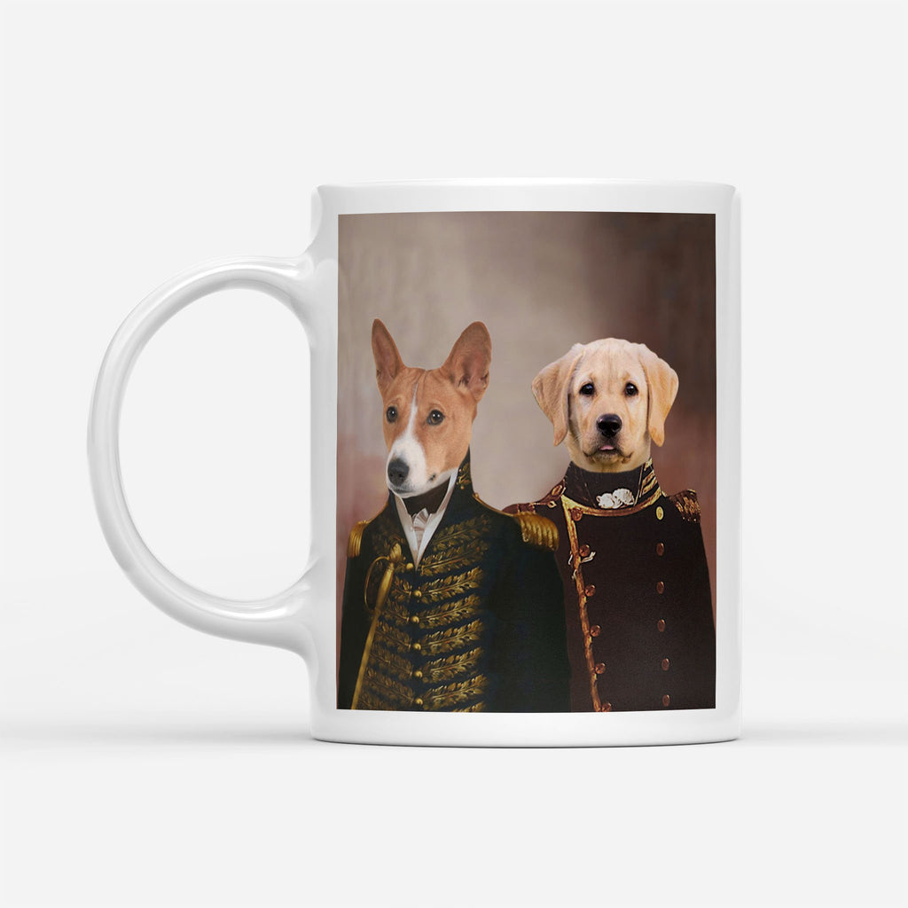 Army Brothers - Personalized Pet Portrait Custom Mug Gift for Dog Cat Lovers