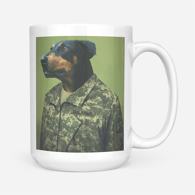 Custom Pet Portrait - The Army Man - Personalized Mug - KutePaw