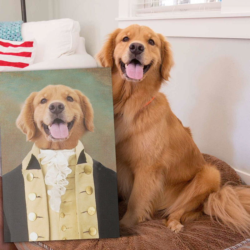 CONTINENTAL ARMY - Custom Pet Portrait Canvas - KutePaw