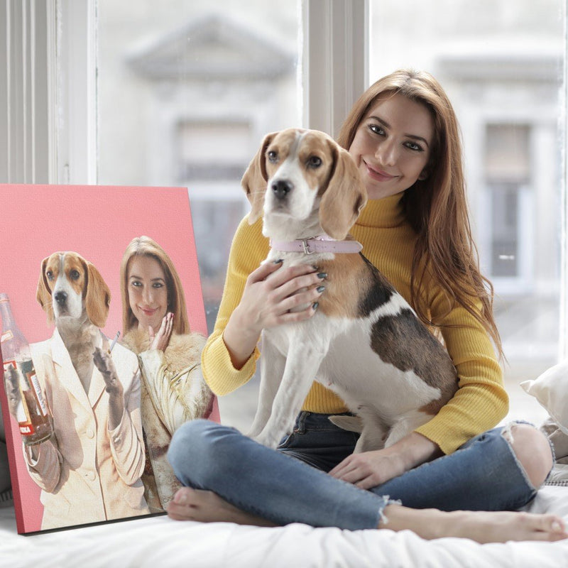 Absolutely Fa-paw-lous - Custom Pet Portrait Canvas - KutePaw