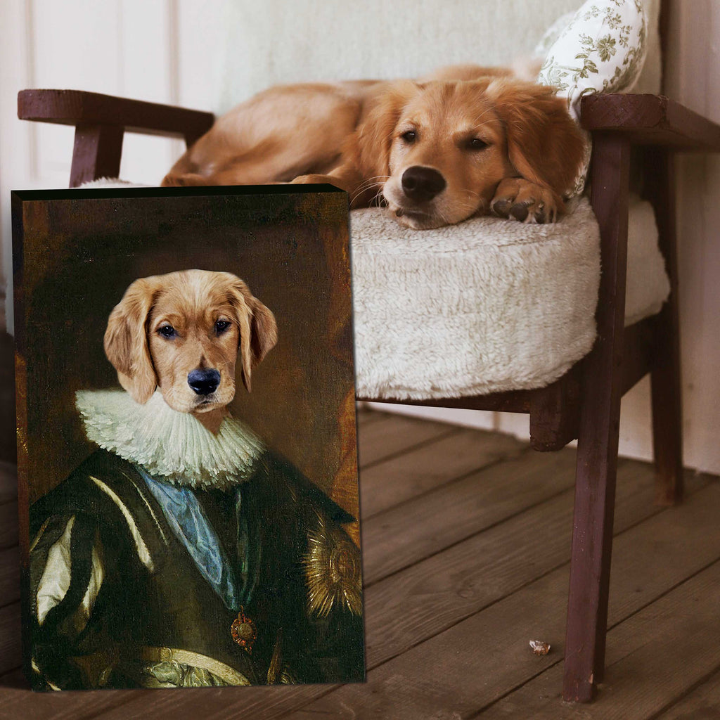 Charles I of England - Personalized Pet Portrait Poster Wall Art Custom Canvas Gift for Dog Cat Lovers