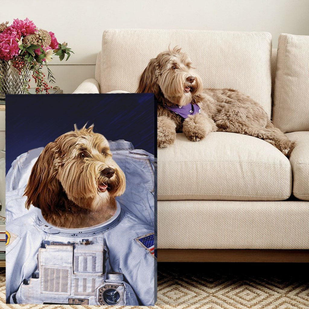 ASTRONAUT WAITING IN THE SKY - Custom Pet Portrait Canvas - KutePaw