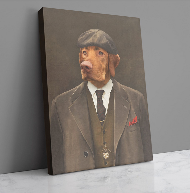 Custom Pet Portrait - The Pawky - Personalized Canvas - KutePaw