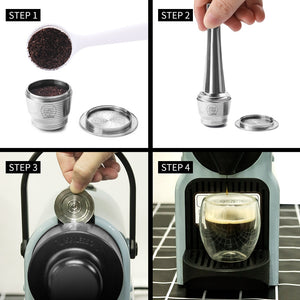 Nespresso Refillable Coffee Capsule Pod Stainless Steel - Ameya Home