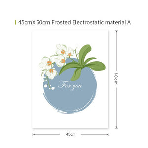 Fruit Stained Glass  Frosted Window Sticker - Ameya Home