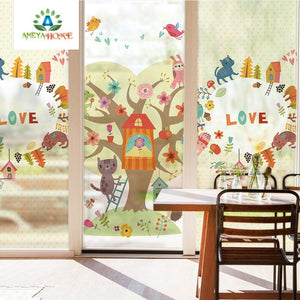 New Stained Static Privacy Glass Sticker - Ameya Home