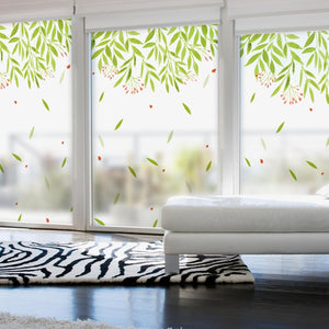 Window Film  Opaque Privacy Leaves  Glass - Ameya Home