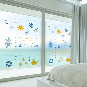 Stained Static Window Film  Privacy Glass - Ameya Home