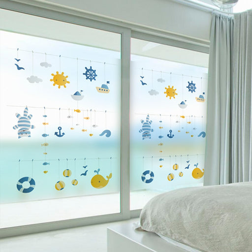 Stained Static Cling Window Film Frosted Opaque Privacy Glass films home dicoration pvc wall  BLT857 Good Time
