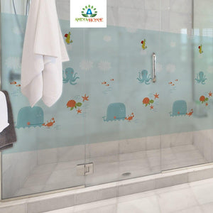 Frosted Opaque Privacy Glass Sticker Films - Ameya Home