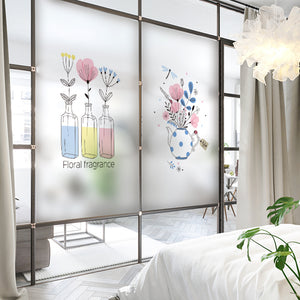 Vase pattern of glass stickers - Ameya Home