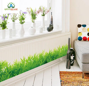 Fresh green grass baseboard PVC Wall Stickers - Ameya Home