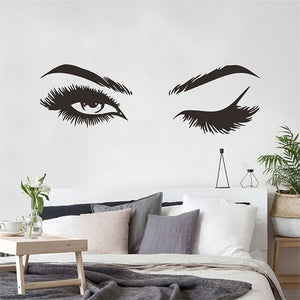 Lash and  Brows Eyes  Wall Stickers - Ameya Home