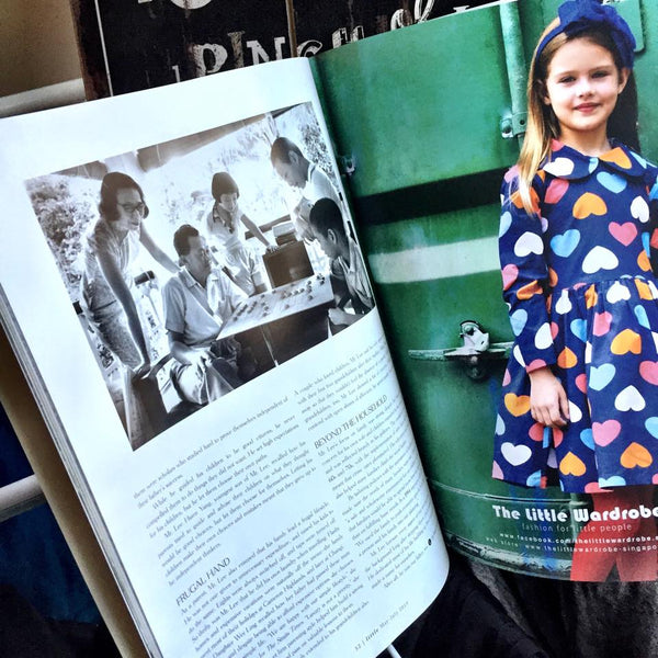 The Little Wardrobe Dress featured next to an article on Mr. Lee Kuan Yew!