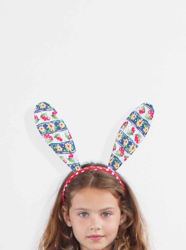 Headband - Bunny Ears Cherry Pop