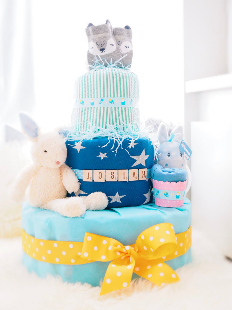 3 Tier Diaper Cake Boy - In the woods