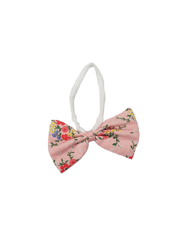 *NEW* BOW HEADBAND PINK DITSY