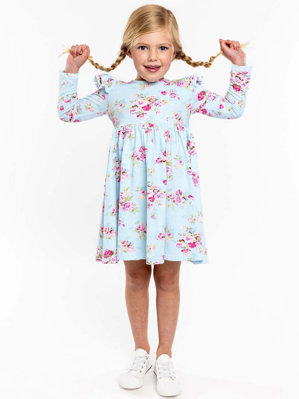 *NEW* DAKOTA ICY FLORAL JERSEY DRESS