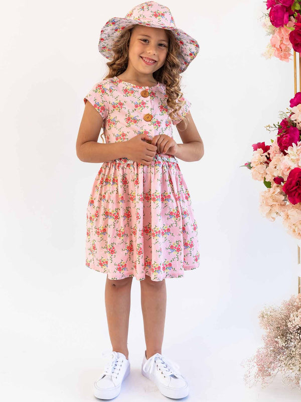 *NEW* GOLDIE PINK DITSY DRESS