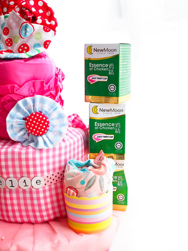 3 Tier Essence of Love Bunny Diaper Cake Girl