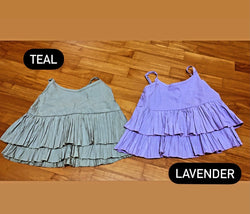 Laura Layered Top - Lavender