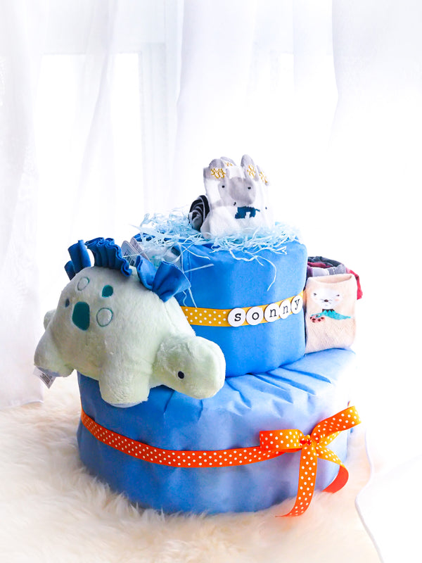 2 Tier Diaper Cake Boy - Dinosaur