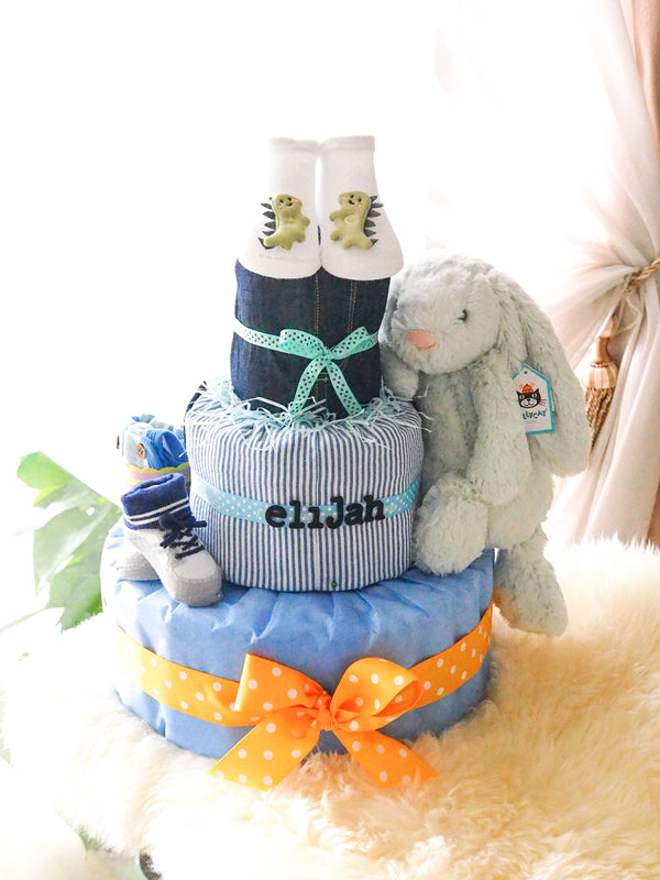 3 Tier Diaper Cake Boy - Bunny