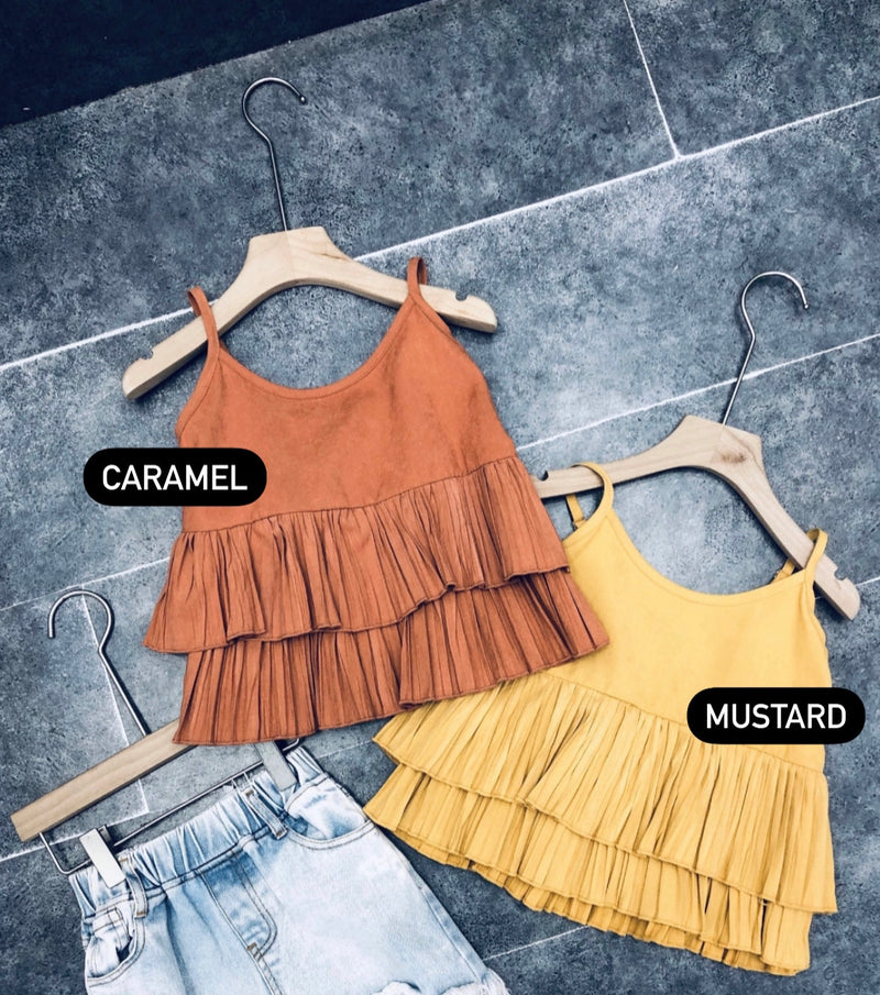 Laura Layered Top - Mustard
