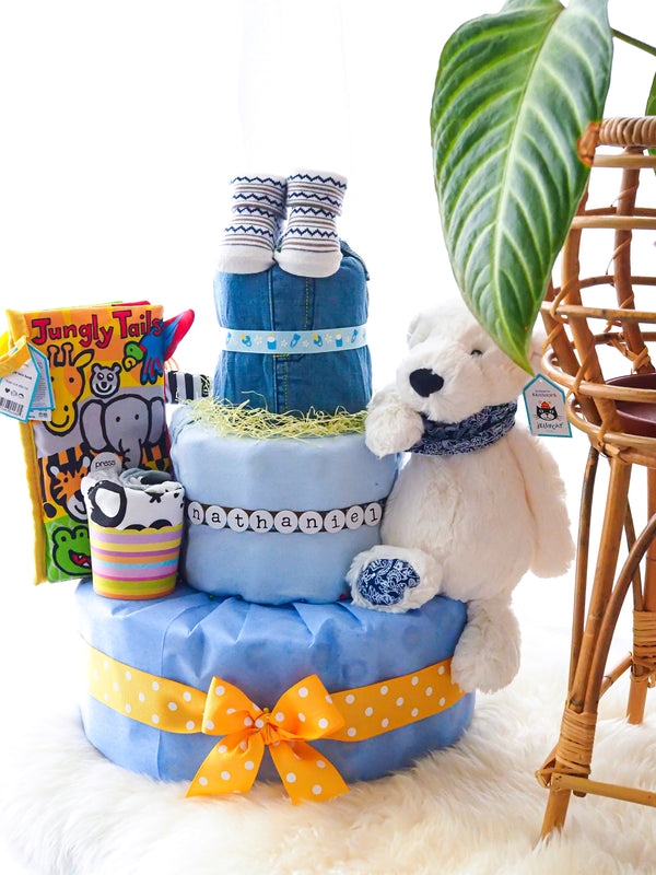 3 Tier Diaper Cake Boy - Polar Jungly Book