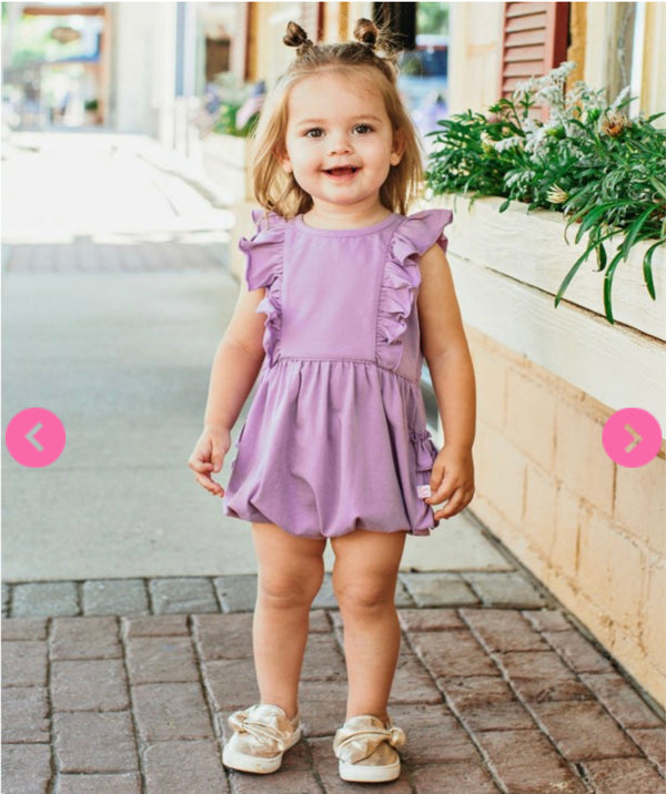 Lilac Waterfall Bubble Romper