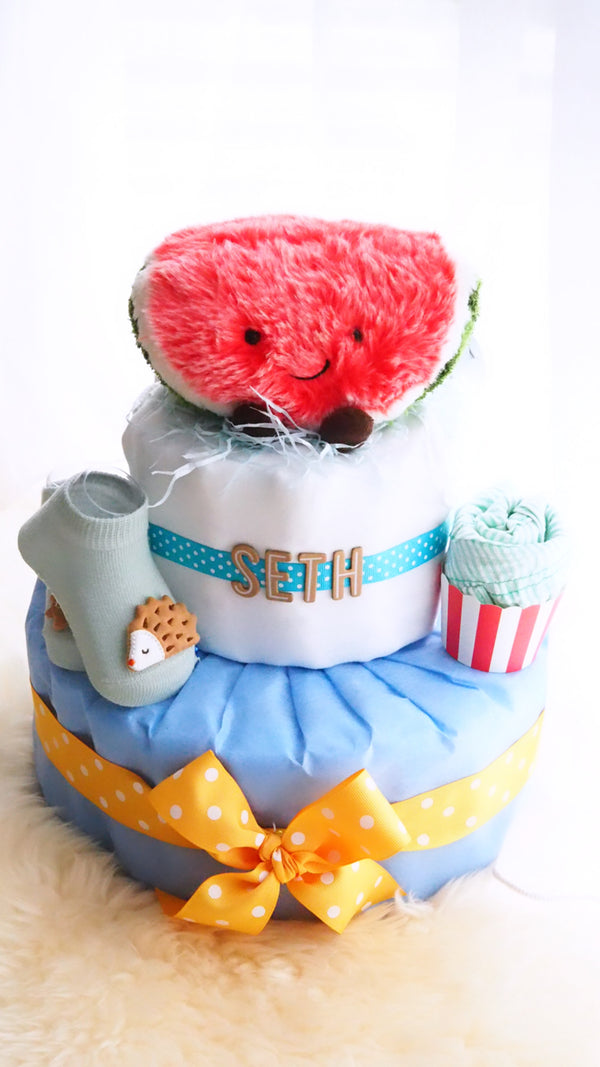 2 Tier Diaper Cake Boy - You are 1 in a Melon