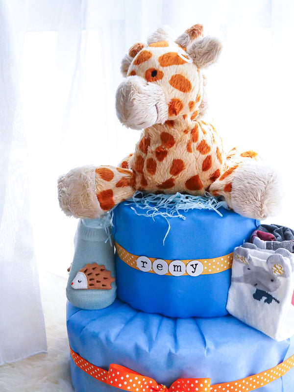 2 Tier Diaper Cake Boy - Giraffe